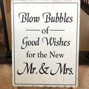 Wooden Rustic Easel Wedding Sign